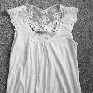White burnout and lace tank